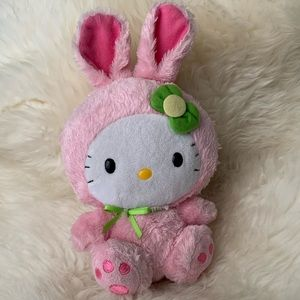 TY NEW soft Easter bunny hello kitty